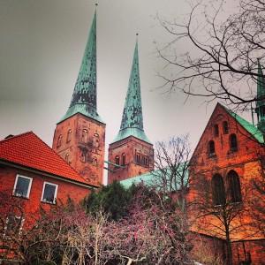 Eglise à Lübeck, Allemagne